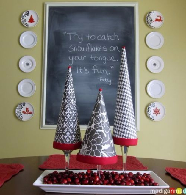 DIY Christmas Centerpieces - Easy DIY Topiary Trees - Simple, Easy Holiday Decorating Ideas on A Budget- cheap dollar store crafts holiday #holiday #crafts #christmas
