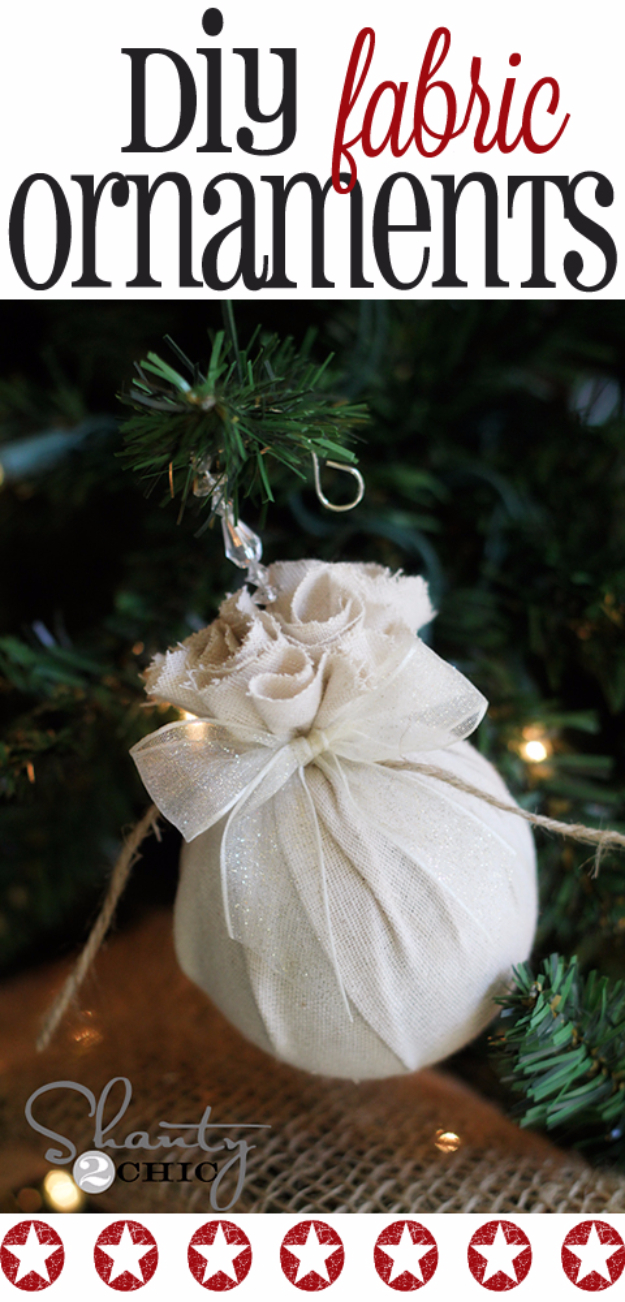 Best DIY Ornaments for Your Tree - Best DIY Ornament Ideas for Your Christmas Tree - Easy Fabric Balls Christmas Ornaments - Cool Handmade Ornaments, DIY Decorating Ideas and Ornament Tutorials - Creative Ways To Decorate Trees on A Budget - Cheap Rustic Decor, Easy Step by Step Tutorials - Holiday Crafts for Kids #christmas