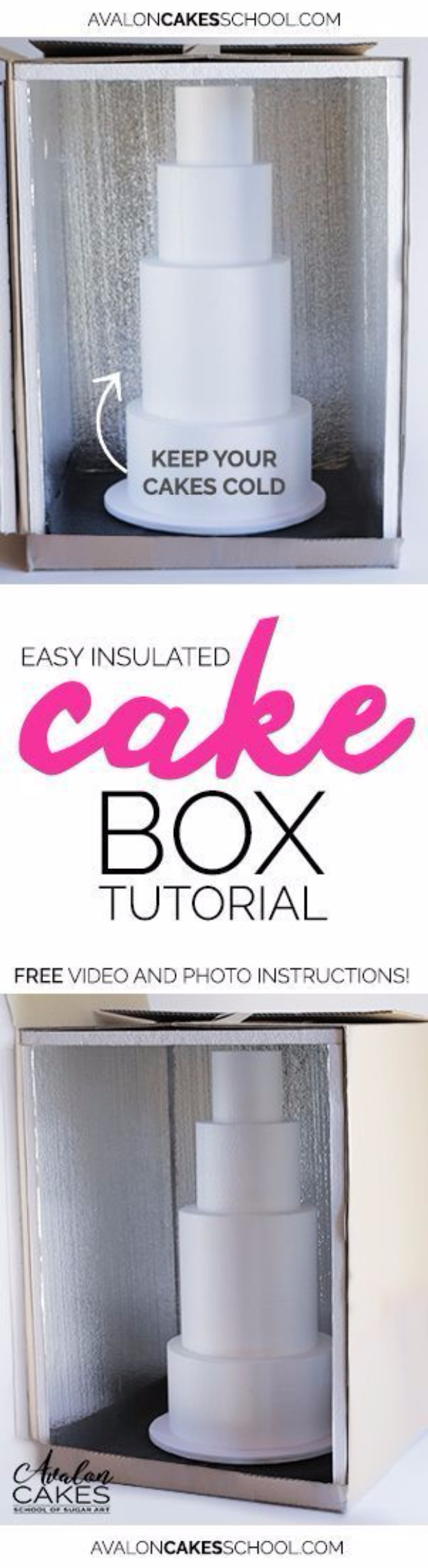 Best Baking Hacks - Easy Insulated Cake Box - DIY Cooking Tips and Tricks for Baking Recipes - Quick Ways to Bake Cake, Cupcakes, Desserts and Cookies - Kitchen Lifehacks for Bakers http://diyjoy.com/baking-hacks