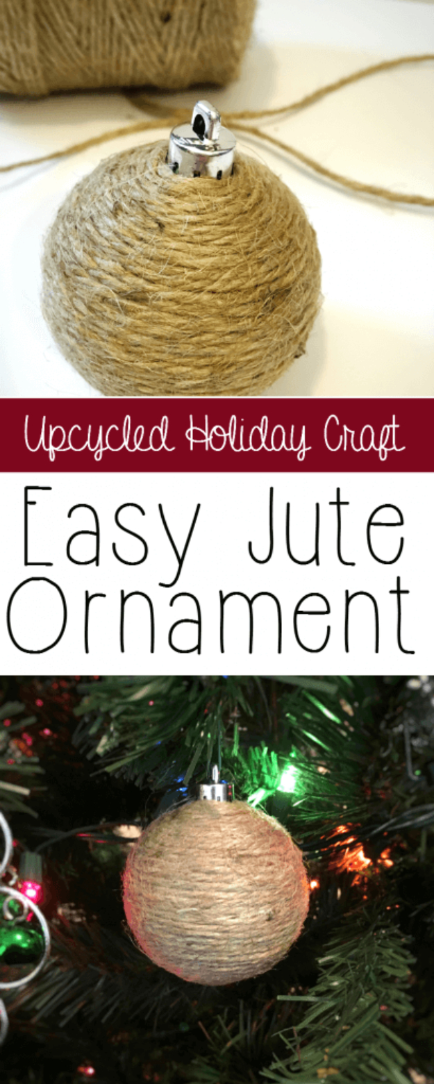 Best DIY Ornaments for Your Tree - Best DIY Ornament Ideas for Your Christmas Tree - Easy Jute Ornament - Cool Handmade Ornaments, DIY Decorating Ideas and Ornament Tutorials - Creative Ways To Decorate Trees on A Budget - Cheap Rustic Decor, Easy Step by Step Tutorials - Holiday Crafts for Kids and Gifts To Make For Friends and Family