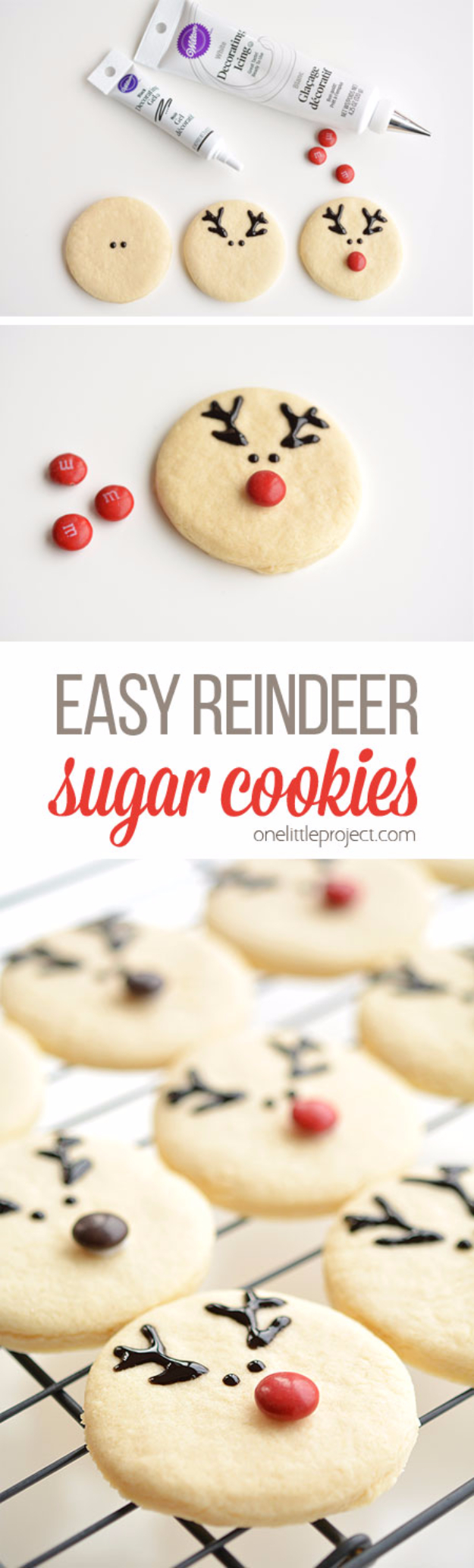 Best Recipes for Christmas Cookies- Easy Reindeer Sugar Cookies - Easy Decorated Holiday Cookies - Candy Cookie Recipes Ideas for Kids - Traditional Favorites and Gluten Free and Healthy Versions - Quick No Bake Cookies and Last Minute Desserts for the Holidays