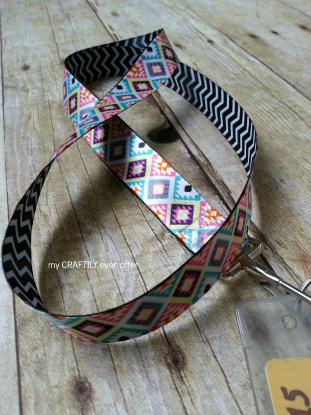 DIY Teacher Gifts - Easy Ribbon Lanyard - Cheap and Easy Presents and DIY Gift Ideas for Teachers at Christmas, End of Year, First Day and Birthday - Teacher Appreciation Gifts and Crafts - Cute Mason Jar Ideas and Thoughtful, Unique Gifts from Kids #diygifts #teachersgifts #diyideas #cheapgifts