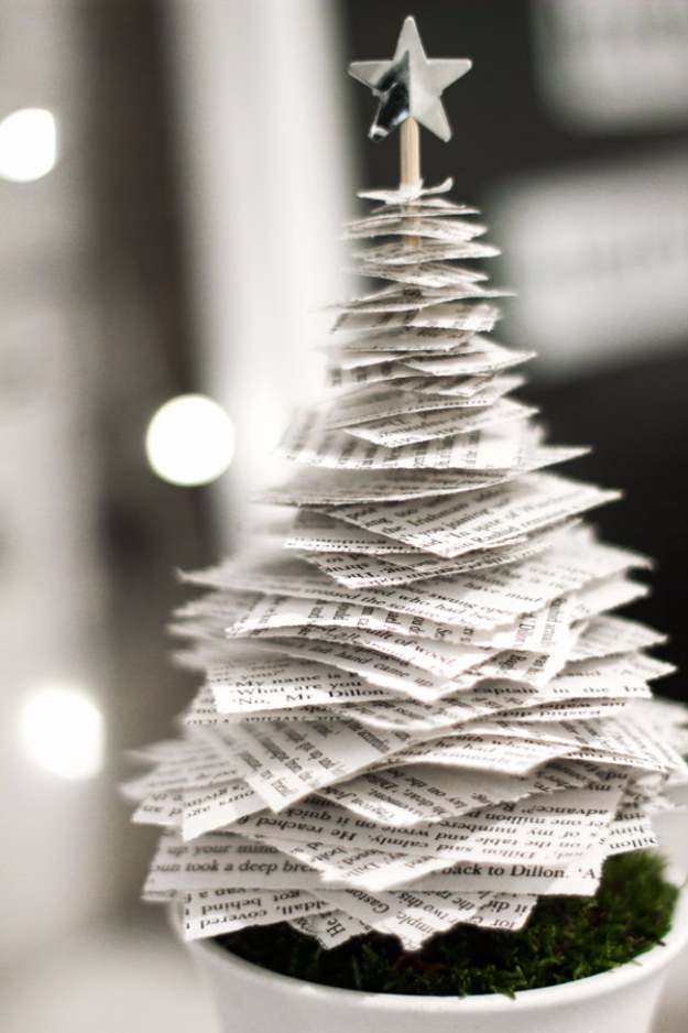 Best DIY Ideas for Your Christmas Tree - Easy To Make Tabletop Christmas Tree - Cool Handmade Ornaments, DIY Decorating Ideas and Ornament Tutorials - Cheap Christmas Home Decor - Xmas Crafts #christmas #diy #crafts