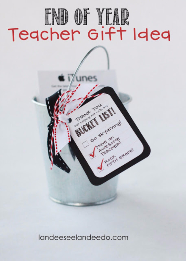 DIY Teacher Gifts - End Of Year Teacher Gift - Cheap and Easy Presents and DIY Gift Ideas for Teachers at Christmas, End of Year, First Day and Birthday - Teacher Appreciation Gifts and Crafts - Cute Mason Jar Ideas and Thoughtful, Unique Gifts from Kids http://diyjoy.com/diy-teacher-gifts