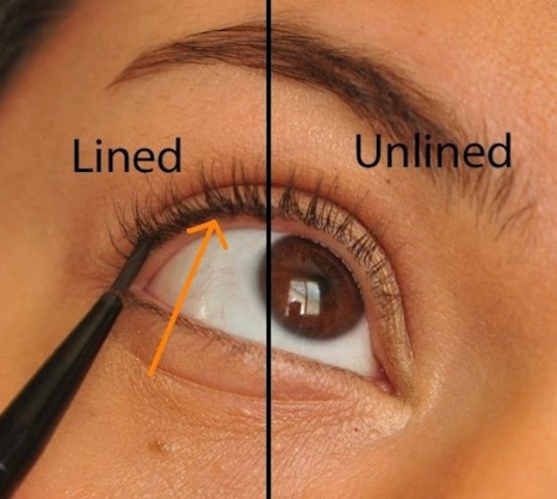Cool DIY Makeup Hacks for Quick and Easy Beauty Ideas - Eyeliner Tightlining - How To Fix Broken Makeup, Tips and Tricks for Mascara and Eye Liner, Lipstick and Foundation Tutorials - Fast Do It Yourself Beauty Projects for Women
