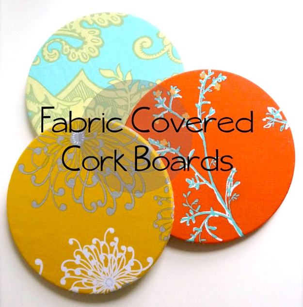 DIY Gift for the Office - Fabric Covered Cork Board - DIY Gift Ideas for Your Boss and Coworkers - Cheap and Quick Presents to Make for Office Parties, Secret Santa Gifts - Cool Mason Jar Ideas, Creative Gift Baskets and Easy Office Christmas Presents