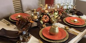 She Makes A Fabulous Dollar Store Centerpiece For The Thanksgiving Holidays!