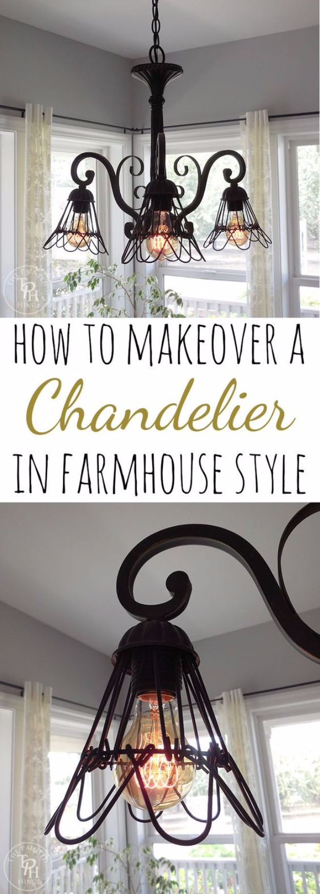 DIY Farmhouse Style Decor Ideas for the Bedroom - Farmhouse Style Chandelier - Rustic Farm House Ideas for Furniture, Paint Colors, Farm House Decoration for Home Decor in The Bedroom - Wall Art, Rugs, Nightstands, Lights and Room Accessories http://diyjoy.com/diy-farmhouse-decor-bedroom