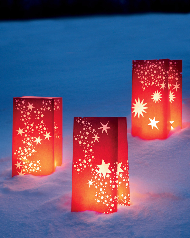 DIY Christmas Luminaries and Home Decor for The Holidays - Galaxy On Terra Firma Luminaria - Cool Candle Holders, Tea Lights, Holiday Gift Ideas, Christmas Crafts for Kids #diy #luminaries #christmas