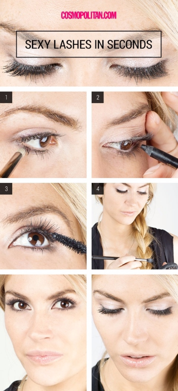 36 cool must try makeup hacks cool diy makeup hacks for quick and easy beauty ideas get sexy voluminous lashes solutioingenieria Images