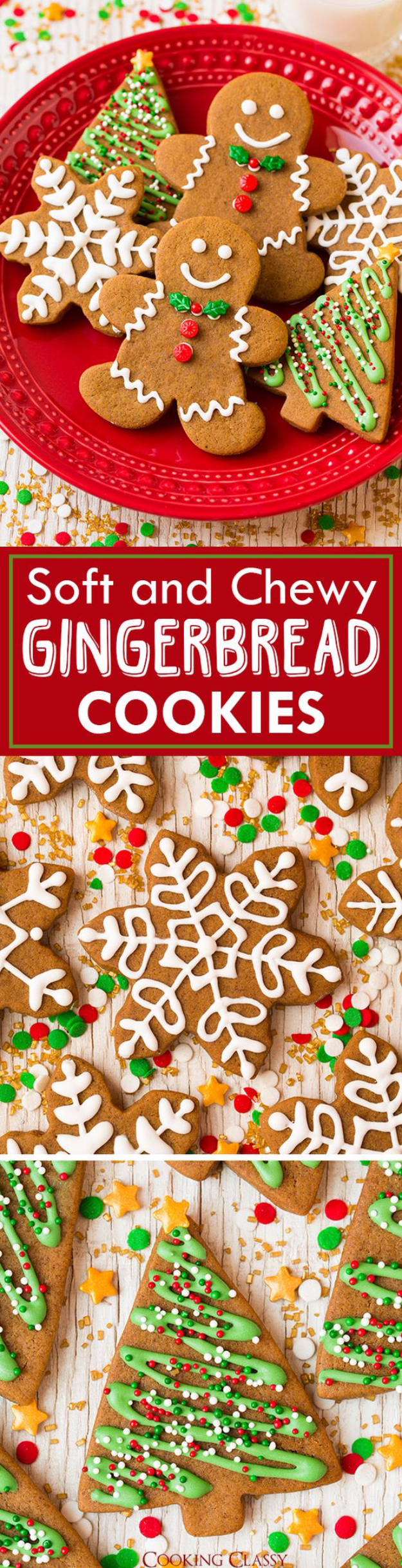 Recipes for Christmas Cookies- Gingerbread Cookies - Easy Decorated Holiday Cookies - Candy Cookie Recipes Ideas for Kids - Traditional Favorites and Gluten Free and Healthy Versions - Quick No Bake Cookies and Last Minute Desserts for the Holidays