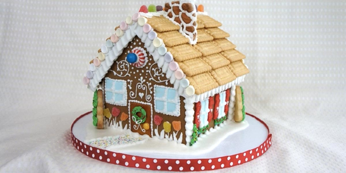 She shows us how to make the most awesome gingerbread for How do you make a gingerbread house