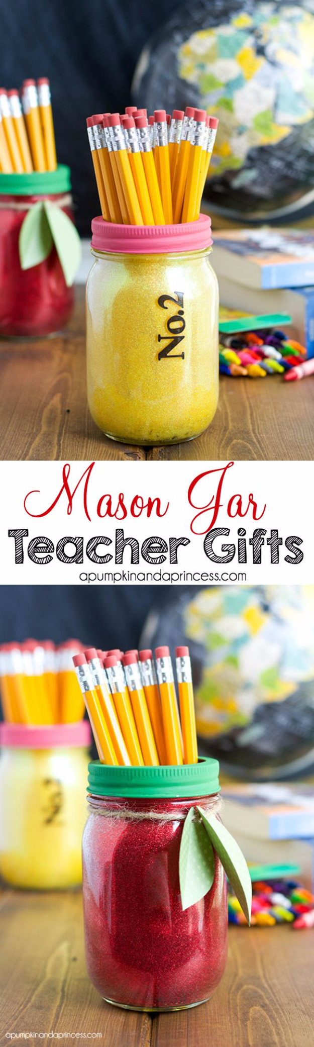 DIY Teacher Gifts - Glitter Mason Jar Teacher Gifts - Cheap and Easy Presents and DIY & 33 Best DIY Teacher Gifts