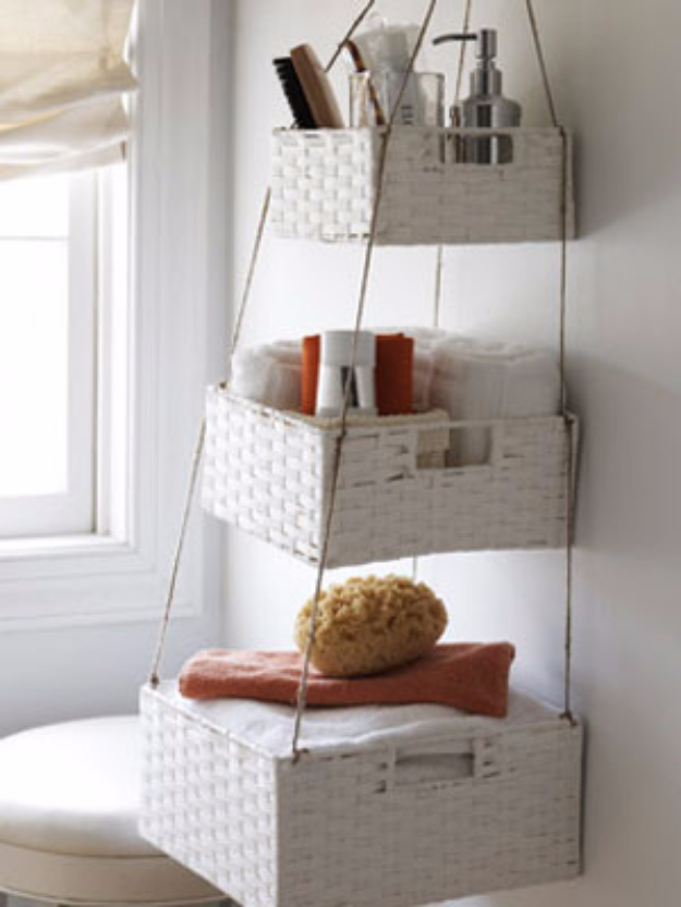Creative Crafts Made With Baskets - Hanging Basket Craft Project - DIY Storage and Organizing Ideas, Gift Basket Ideas, Best DIY Christmas Presents and Holiday Gifts, Room and Home Decor with Step by Step Tutorials - Easy DIY Ideas and Dollar Store Crafts #crafts #diy