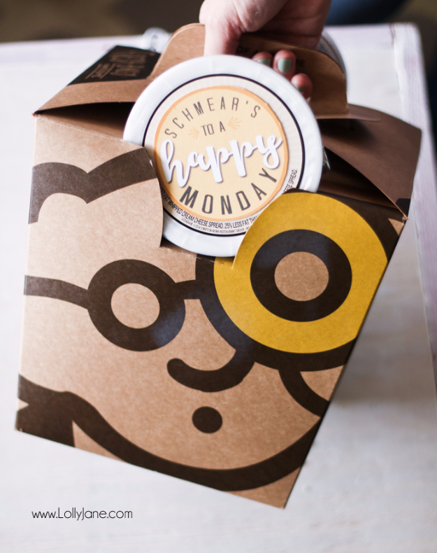 DIY Gift for the Office - Happy Monday DIY Gift - DIY Gift Ideas for Your Boss and Coworkers - Cheap and Quick Presents to Make for Office Parties, Secret Santa Gifts - Cool Mason Jar Ideas, Creative Gift Baskets and Easy Office Christmas Presents