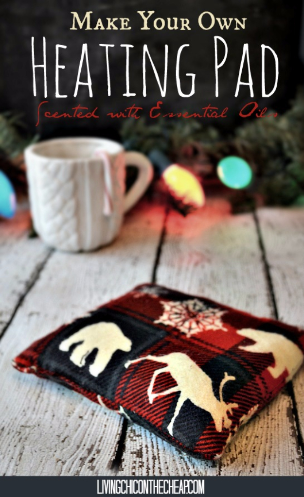 Best DIY Ideas for Wintertime - Heating Pad Scented With Essential Oils - Winter Crafts with Snowflakes, Icicle Art and Projects, Wreaths, Woodland and Winter Wonderland Decor, Mason Jars and Dollar Store Ideas - Easy DIY Ideas to Decorate Home and Room for Winter - Creative Home Decor and Room Decorations for Adults, Teens and Kids #diy #winter #crafts