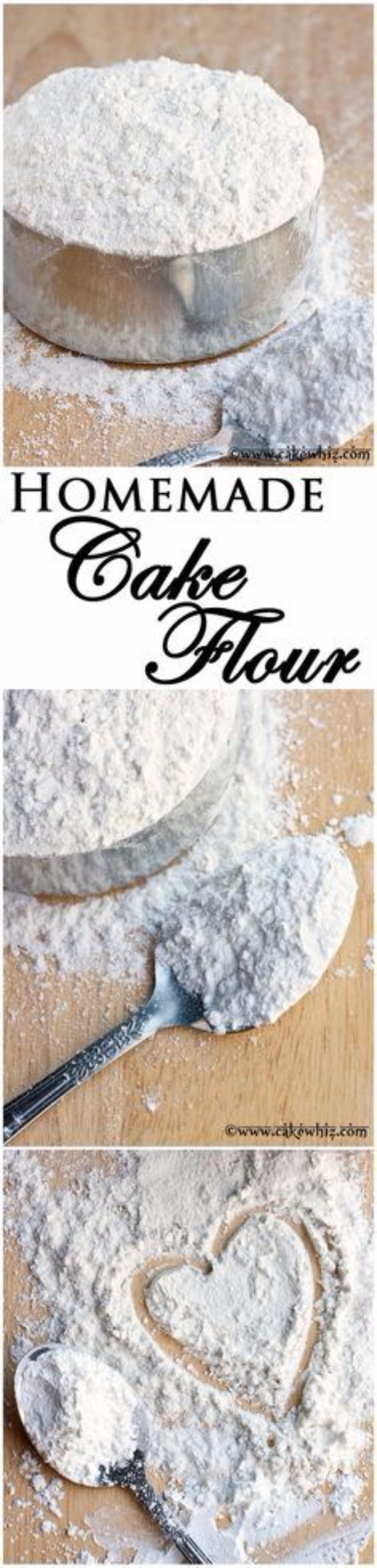 Best Baking Hacks - Homemade Cake Flour - DIY Cooking Tips and Tricks for Baking Recipes - Quick Ways to Bake Cake, Cupcakes, Desserts and Cookies - Kitchen Lifehacks for Bakers http://diyjoy.com/baking-hacks