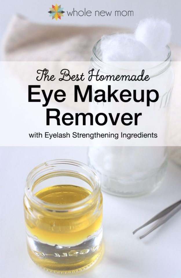 Cool DIY Makeup Hacks for Quick and Easy Beauty Ideas - Homemade Eye Makeup Remover - How To Fix Broken Makeup, Tips and Tricks for Mascara and Eye Liner, Lipstick and Foundation Tutorials - Fast Do It Yourself Beauty Projects for Women