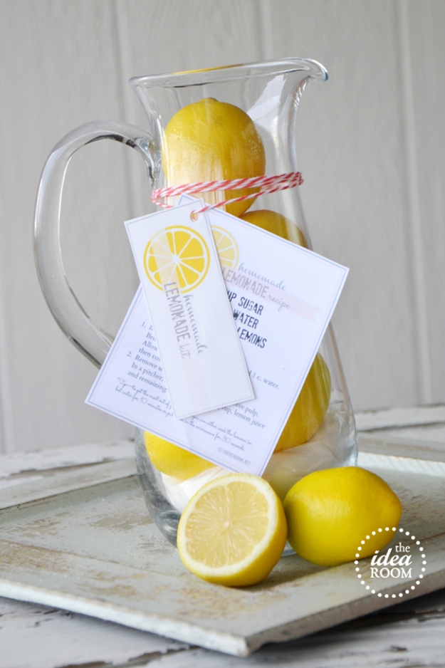 DIY Housewarming Gifts - Homemade Lemonade Gift Kit - Best Do It Yourself Gift Ideas for Friends With A New House, Home or Apartment - Creative, Cheap and Quick Crafts and DIY Ideas for Housewarming Presents - Mason Jar Gifts, Baskets, Gifts for Women and Men #diygifts #housewarming #diyideas #cheapgifts