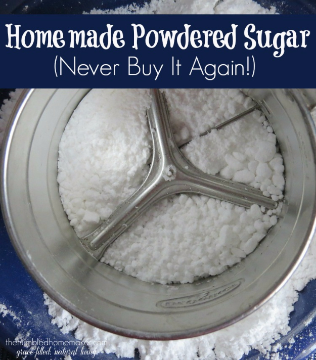 Best Baking Hacks - Homemade Powdered Sugar - DIY Cooking Tips and Tricks for Baking Recipes - Quick Ways to Bake Cake, Cupcakes, Desserts and Cookies - Kitchen Lifehacks for Bakers