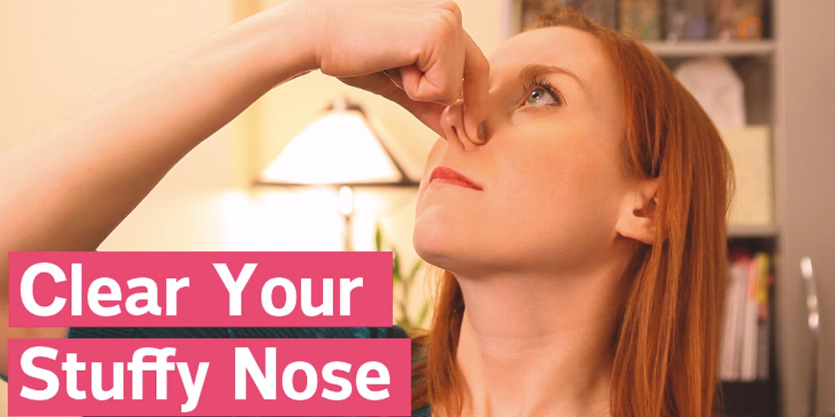 She Shows Us Two Great Ways To Clear A Stuffy Nose