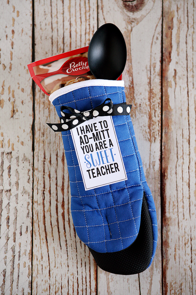 DIY Teacher Gifts - I Have To Ad-Mitt You're a Sweet Teacher - Cheap and Easy Presents and DIY Gift Ideas for Teachers at Christmas, End of Year, First Day and Birthday - Teacher Appreciation Gifts and Crafts - Cute Mason Jar Ideas and Thoughtful, Unique Gifts from Kids http://diyjoy.com/diy-teacher-gifts