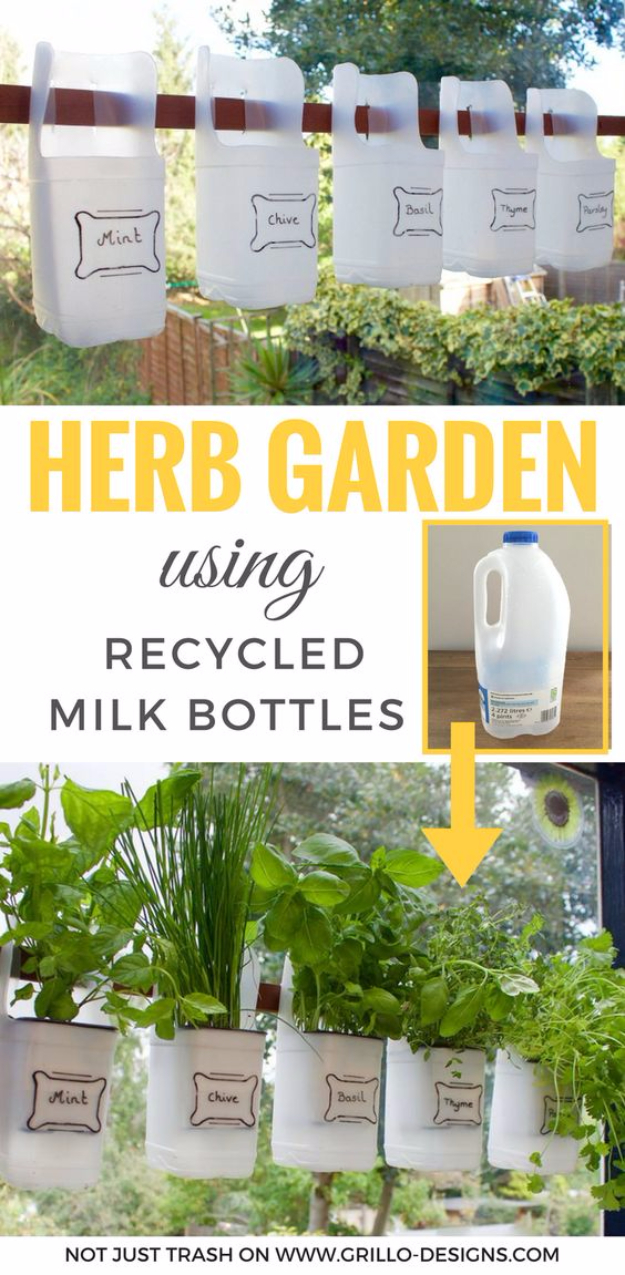 Cool DIY Projects Made With Plastic Bottles - Indoor Bottle Herb Garden - Best Easy Crafts and DIY Ideas Made With A Recycled Plastic Bottle - Jewlery, Home Decor, Planters, Craft Project Tutorials - Cheap Ways to Decorate and Creative DIY Gifts for Christmas Holidays - Fun Projects for Adults, Teens and Kids