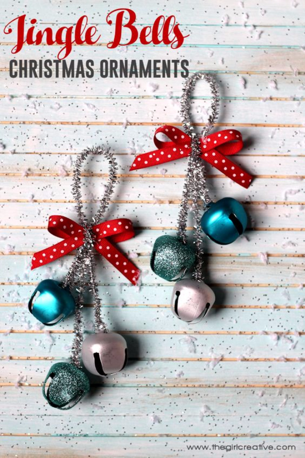 Best DIY Ornaments for Your Tree - Best DIY Ornament Ideas for Your Christmas Tree - Jingle Bells Christmas Ornaments - Cool Handmade Ornaments, DIY Decorating Ideas and Ornament Tutorials - Creative Ways To Decorate Trees on A Budget - Cheap Rustic Decor, Easy Step by Step Tutorials - Holiday Crafts for Kids and Gifts To Make For Friends and Family http://diyjoy.com/diy-ornaments-christmas-tree