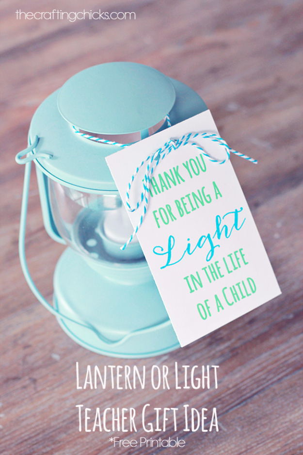 DIY Teacher Gifts - Lantern Teacher Gift For Birthday or Christmas- Cheap and Easy Presents and DIY Gift Ideas for Teachers at Christmas, End of Year, First Day and Birthday - Teacher Appreciation Gifts and Crafts - Cute Mason Jar Ideas and Thoughtful, Unique Gifts from Kids #diygifts #teachersgifts #diyideas #cheapgifts