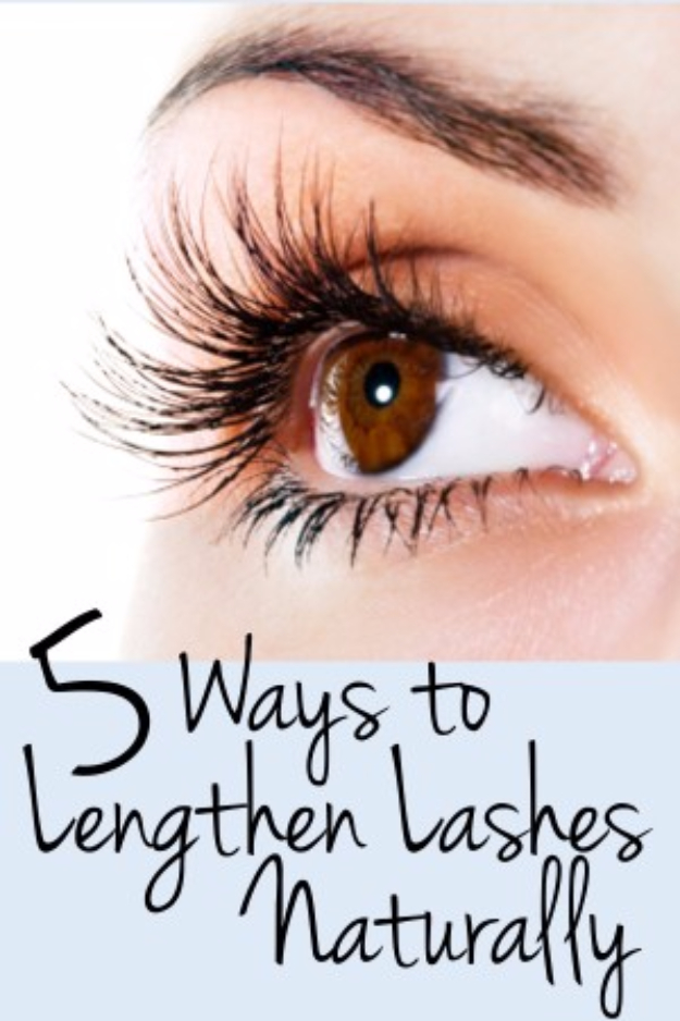 Cool DIY Makeup Hacks for Quick and Easy Beauty Ideas - Lengthen Your Lashes Naturally - How To Fix Broken Makeup, Tips and Tricks for Mascara and Eye Liner, Lipstick and Foundation Tutorials - Fast Do It Yourself Beauty Projects for Women