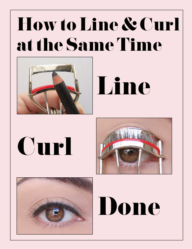 Cool DIY Makeup Hacks for Quick and Easy Beauty Ideas - Line And Curl Your Lashes At The Same Time - How To Fix Broken Makeup, Tips and Tricks for Mascara and Eye Liner, Lipstick and Foundation Tutorials - Fast Do It Yourself Beauty Projects for Women