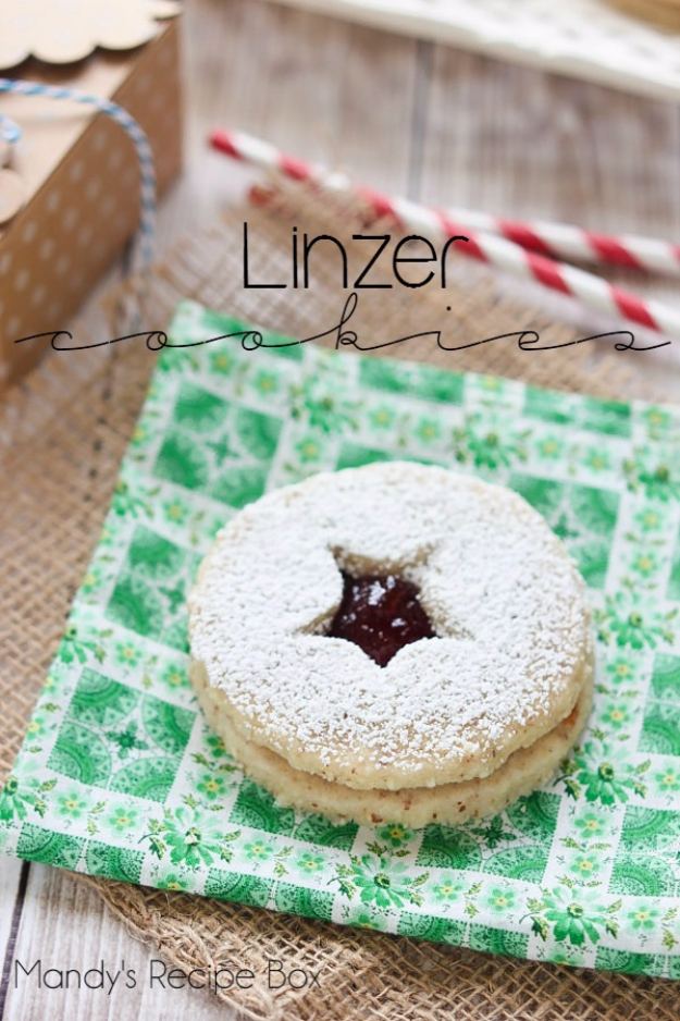 Best Recipes for Christmas Cookies- Linzer Cookies - Easy Decorated Holiday Cookies - Candy Cookie Recipes Ideas for Kids - Traditional Favorites and Gluten Free and Healthy Versions - Quick No Bake Cookies and Last Minute Desserts for the Holidays