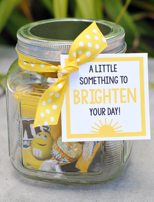 DIY Gift for the Office - Little Something TO Brighten Your Day - DIY Gift  Ideas - 35 Cheap And Easy Gifts For The Office