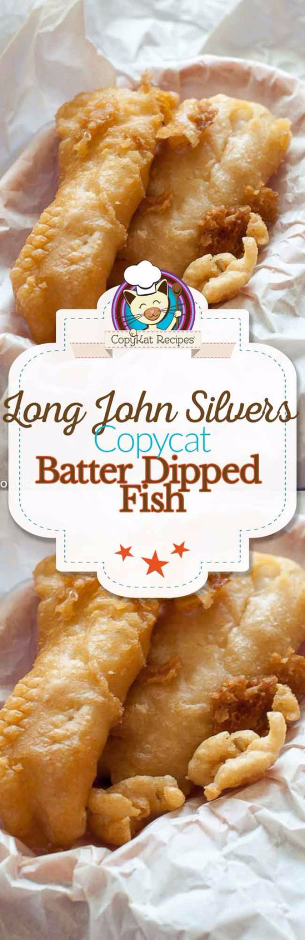 Best Copycat Recipes From Top Restaurants - Long John Silver's Copycat Batter Dipped Fish - Awesome Recipe Knockoffs and Recipe Ideas from Chipotle Restaurant, Starbucks, Olive Garden, Cinabbon, Cracker Barrel, Taco Bell, Cheesecake Factory, KFC, Mc Donalds, Red Lobster, Panda Express #recipes #copycat #dinnerideas