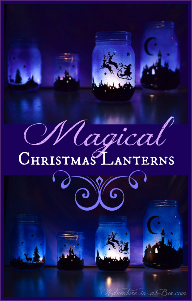 DIY Christmas Luminaries and Home Decor for The Holidays - Magical Christmas Luminaries - Cool Candle Holders, Tea Lights, Holiday Gift Ideas, Christmas Crafts for Kids #diy #luminaries #christmas