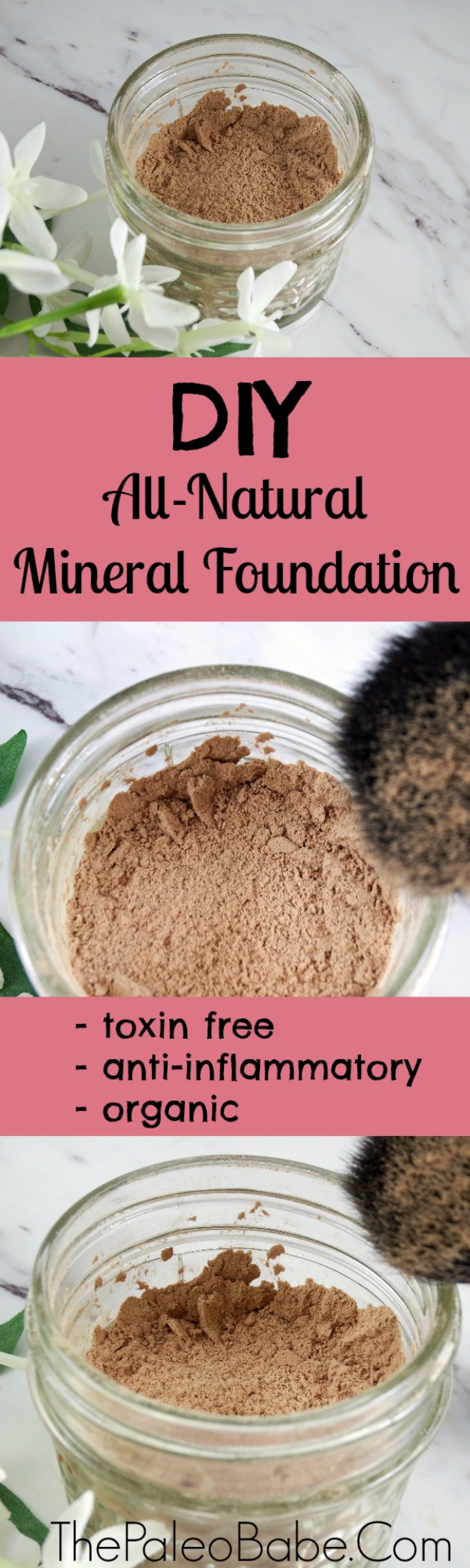 Cool DIY Makeup Hacks for Quick and Easy Beauty Ideas - Make Your Own DIY Natural Non-Toxic Mineral Foundation - How To Fix Broken Makeup, Tips and Tricks for Mascara and Eye Liner, Lipstick and Foundation Tutorials - Fast Do It Yourself Beauty Projects for Women