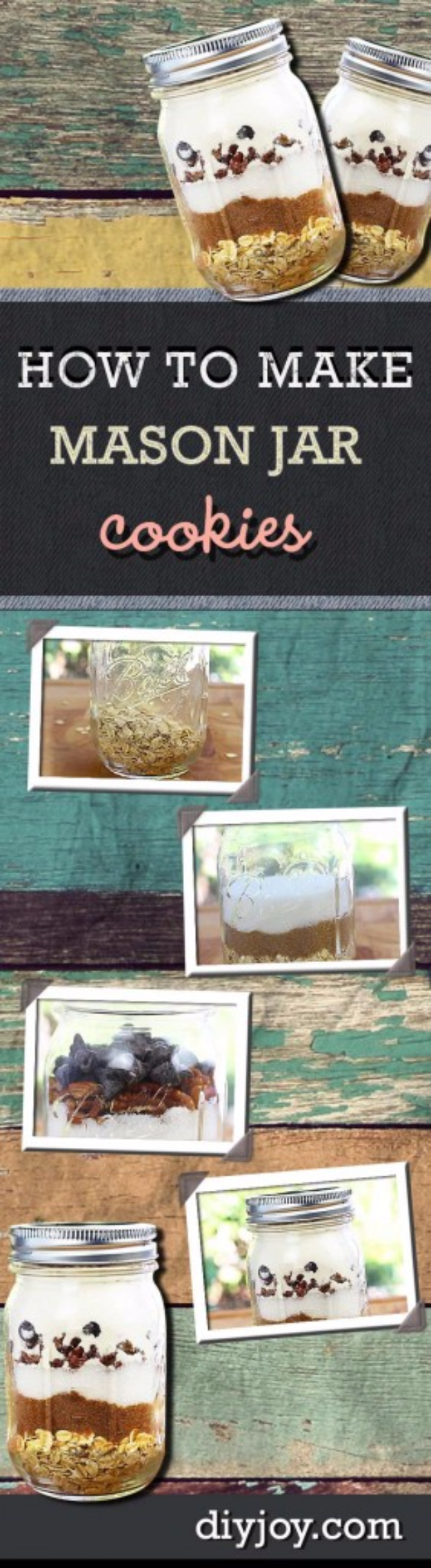 Best Mason Jar Cookies - Mason Jar Cookies - Mason Jar Cookie Recipe Mix for Cute Decorated DIY Gifts - Easy Chocolate Chip Recipes, Christmas Presents and Wedding Favors in Mason Jars - Fun Ideas for DIY Parties and Cheap Last Minute Gift Ideas for Friends #diygifts #masonjarcrafts