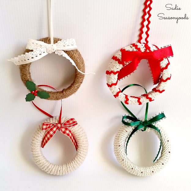 Best DIY Ornaments for Your Tree - Best DIY Ornament Ideas for Your Christmas Tree - Mason Jar Lid Ornaments - Cool Handmade Ornaments, DIY Decorating Ideas and Ornament Tutorials - Creative Ways To Decorate Trees on A Budget - Cheap Rustic Decor, Easy Step by Step Tutorials - Holiday Crafts for Kids and Gifts To Make For Friends and Family