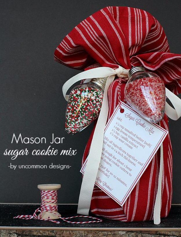 Best Mason Jar Cookies - Mason Jar Sugar Cookie Mix - Mason Jar Cookie Recipe Mix for Cute Decorated DIY Gifts - Easy Chocolate Chip Recipes, Christmas Presents and Wedding Favors in Mason Jars - Fun Ideas for DIY Parties and Cheap Last Minute Gift Ideas for Friends #diygifts #masonjarcrafts