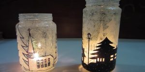 She Makes Beautiful Luminaries For Fabulous Christmas Room Decor (Watch!)