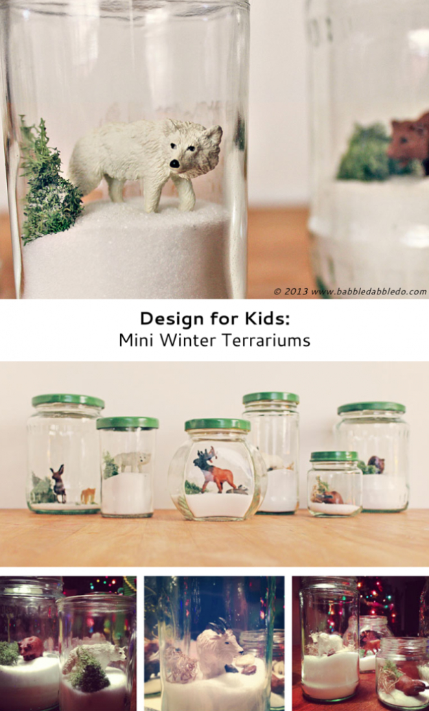 Best DIY Ideas for Wintertime - Mini Winter Terrariums - Winter Crafts with Snowflakes, Icicle Art and Projects, Wreaths, Woodland and Winter Wonderland Decor, Mason Jars and Dollar Store Ideas - Easy DIY Ideas to Decorate Home and Room for Winter - Creative Home Decor and Room Decorations for Adults, Teens and Kids #diy #winter #crafts