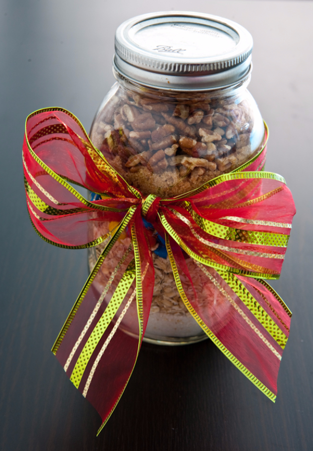 Best Mason Jar Cookies - Monster Cookie Mix - Mason Jar Cookie Recipe Mix for Cute Decorated DIY Gifts - Easy Chocolate Chip Recipes, Christmas Presents and Wedding Favors in Mason Jars - Fun Ideas for DIY Parties and Cheap LAst Mintue Gift Ideas for Friends, Family and Neighbors http://diyjoy.com/best-mason-jar-cookie-recipes