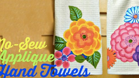 Watch How He Makes These Awesome No Sew Applique Towels Beautiful