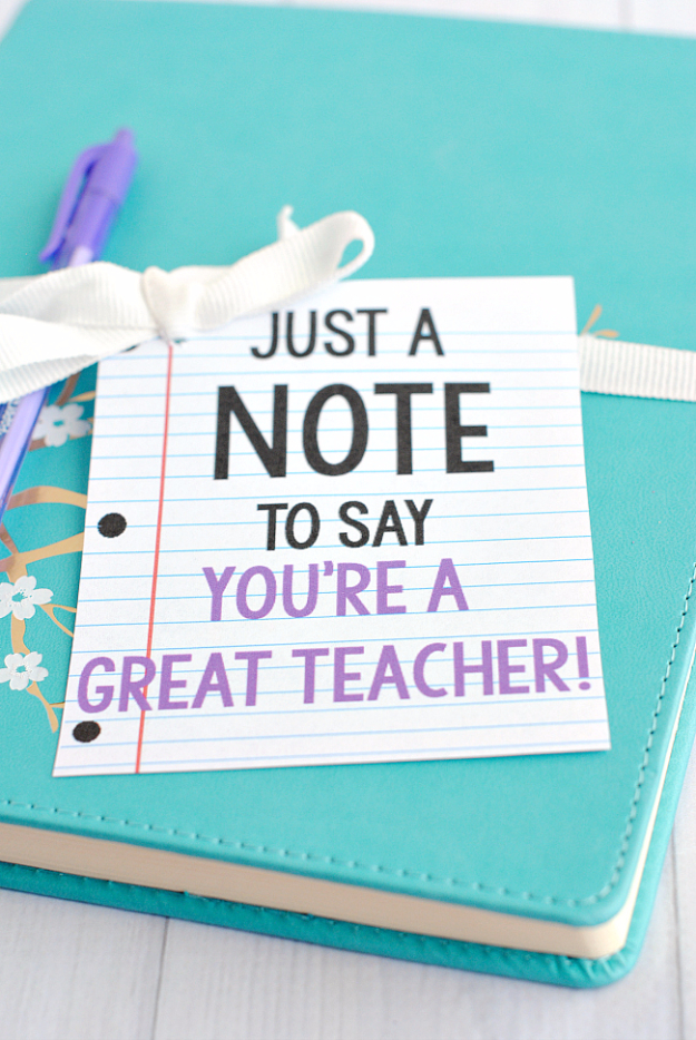 DIY Teacher Gifts - Note Gift Idea - Cheap and Easy Presents and DIY Gift Ideas for Teachers at Christmas, End of Year, First Day and Birthday - Teacher Appreciation Gifts and Crafts - Cute Mason Jar Ideas and Thoughtful, Unique Gifts from Kids #diygifts #teachersgifts #diyideas #cheapgifts