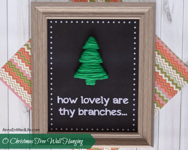 Best DIY Ideas for Wintertime - O Christmas Tree Wall Hanging - Winter Crafts with Snowflakes, Icicle Art and Projects, Wreaths, Woodland and Winter Wonderland Decor, Mason Jars and Dollar Store Ideas - Easy DIY Ideas to Decorate Home and Room for Winter - Creative Home Decor and Room Decorations for Adults, Teens and Kids #diy #winter #crafts