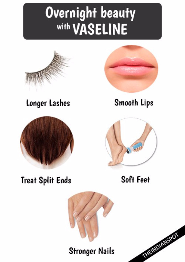 Cool DIY Makeup Hacks for Quick and Easy Beauty Ideas - Overnight Beauty With Vaseline - How To Fix Broken Makeup, Tips and Tricks for Mascara and Eye Liner, Lipstick and Foundation Tutorials - Fast Do It Yourself Beauty Projects for Women