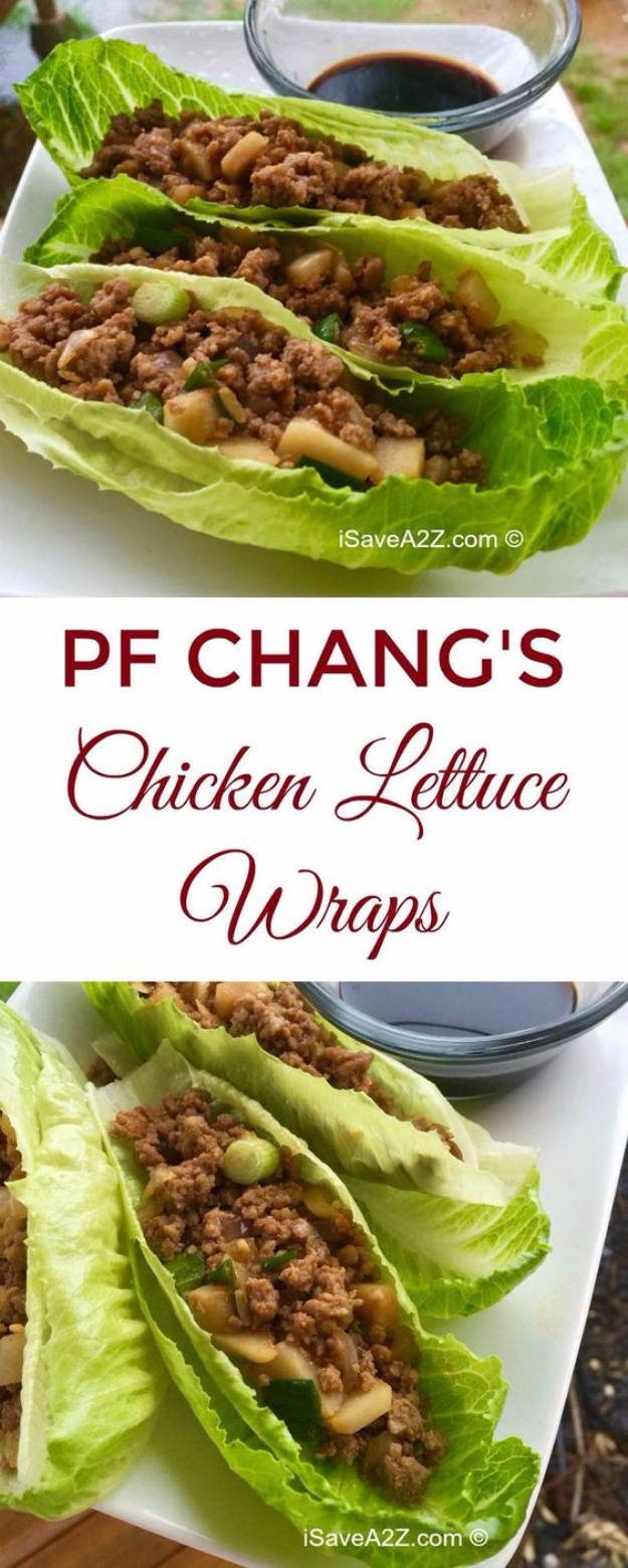 Best Copycat Recipes From Top Restaurants - PF Chang's Chicken Lettuce Wraps Copycat Recipe - Awesome Recipe Knockoffs and Recipe Ideas from Chipotle Restaurant, Starbucks, Olive Garden, Cinabbon, Cracker Barrel, Taco Bell, Cheesecake Factory, KFC, Mc Donalds, Red Lobster, Panda Express #recipes #copycat #dinnerideas