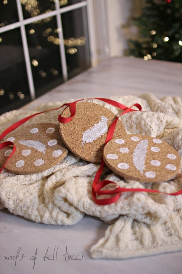 DIY Gifts for Friends - Christmas Gift Idea for Neighbor - - Painted Cork Coasters - Cute Mason Jar Crafts, Gift Baskets and Cheap and Easy Gift Ideas to Make for Friends - Do It Yourself Projects You Can Sew and Craft That Make Awesome DIY Gifts and Homemade Christmas Presents #diygifts #christmasgifts #xmasgifts
