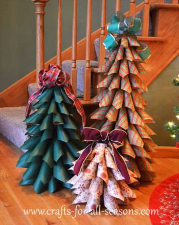 Best DIY Ideas for Your Christmas Tree - Paper Cone Trees - Cool Handmade Ornaments, DIY Decorating Ideas and Ornament Tutorials - Creative Ways To Decorate Trees on A Budget - Cheap Rustic Decor, Easy Step by Step Tutorials - Holiday Crafts for Kids and Gifts To Make For Friends and Family http://diyjoy.com/diy-ideas-christmas-tree