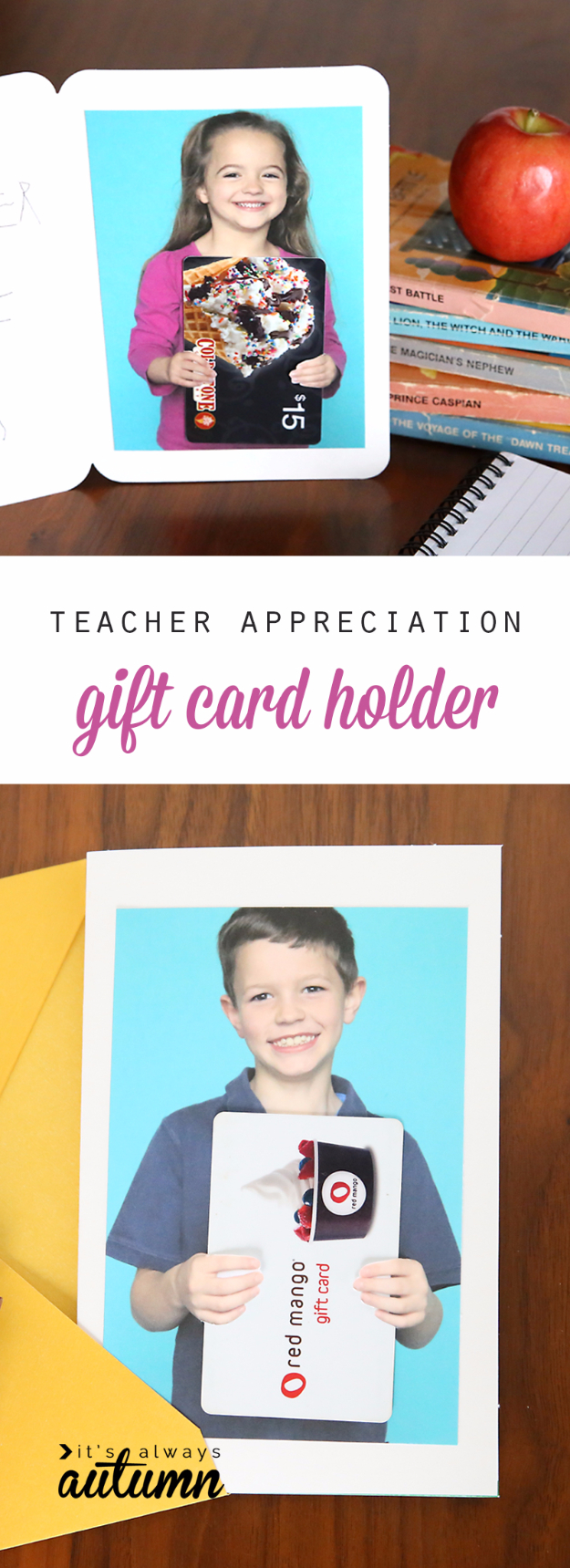 DIY Teacher Gifts - Photo Gift Card Holder - Cheap and Easy Presents and DIY Gift Ideas for Teachers at Christmas, End of Year, First Day and Birthday - Teacher Appreciation Gifts and Crafts - Cute Mason Jar Ideas and Thoughtful, Unique Gifts from Kids #diygifts #teachersgifts #diyideas #cheapgifts